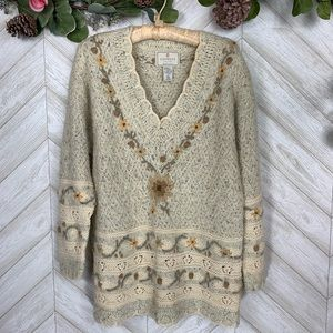 Vintage Express Tricot Knit Sweater Small